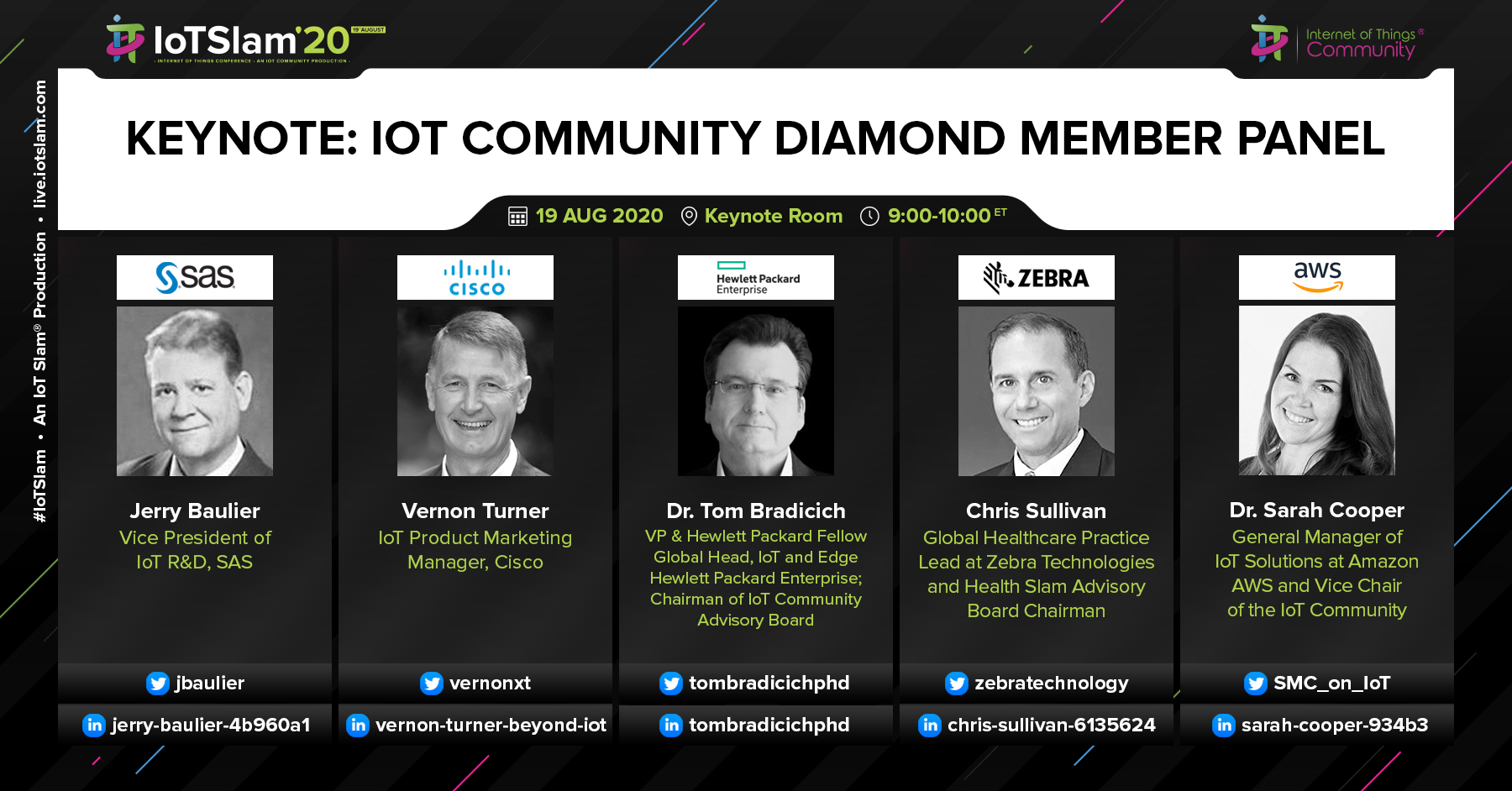 IoT Slam 2020 Opening Keynote and Diamond Member Panel